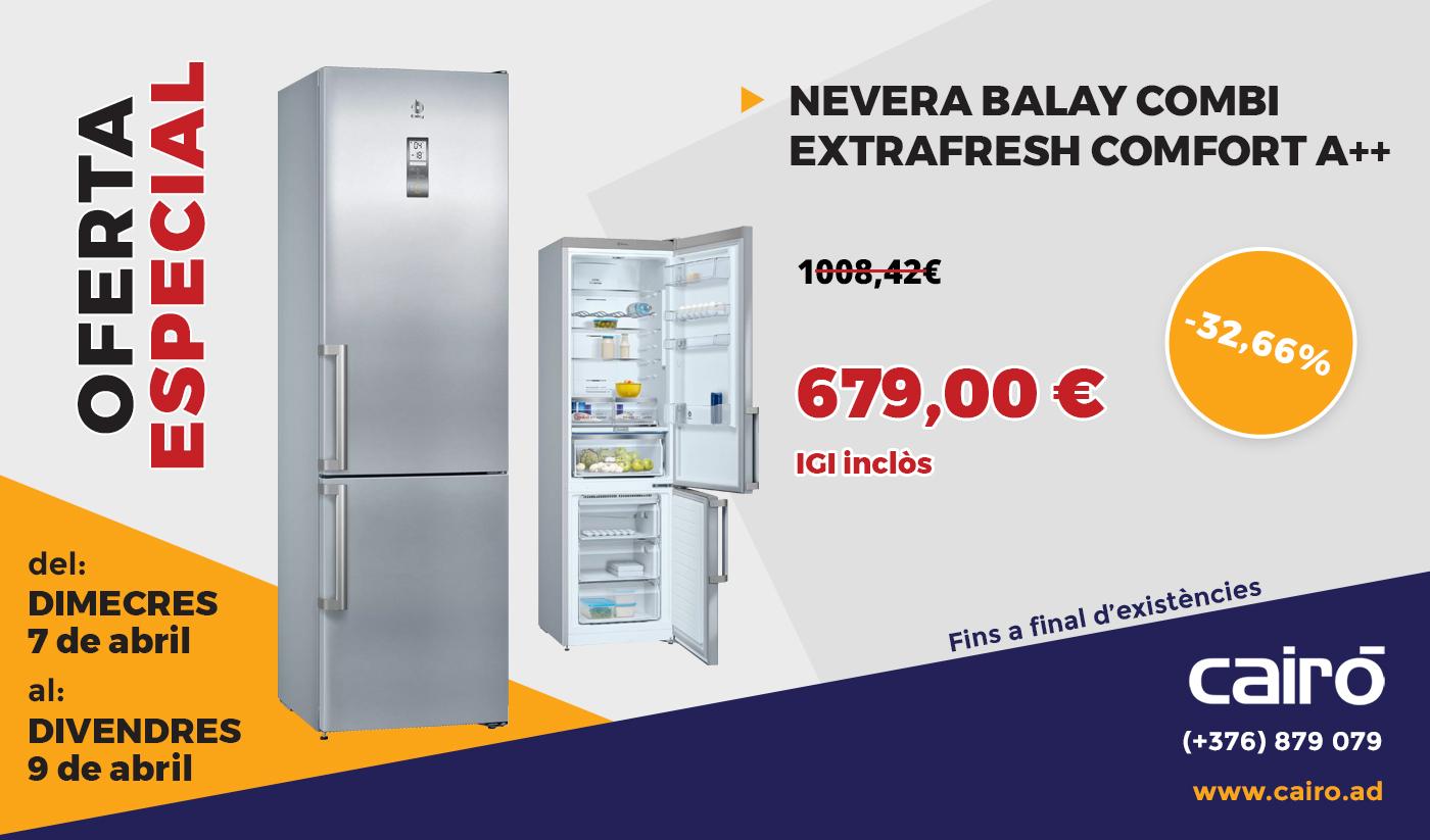 Nevera Balay Combi Extrafresh Comfort A++