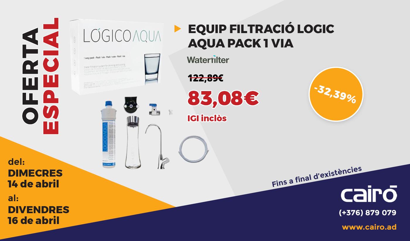 Lógico Aqua: Aigua de qualitat directa de l'aixeta de casa