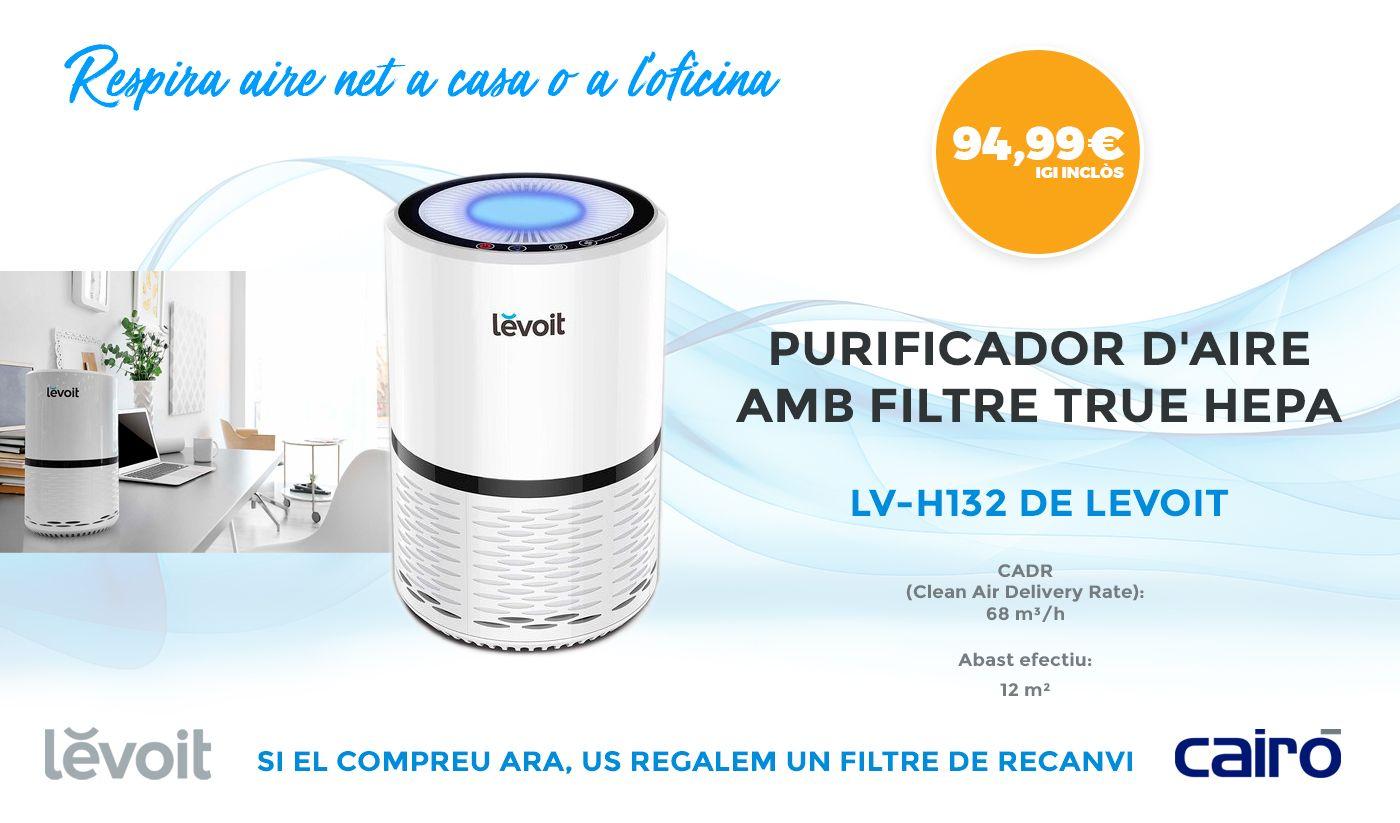 Purificador d'Aire Compacte amb filtre HEPA, LV-H132 de LEVOIT