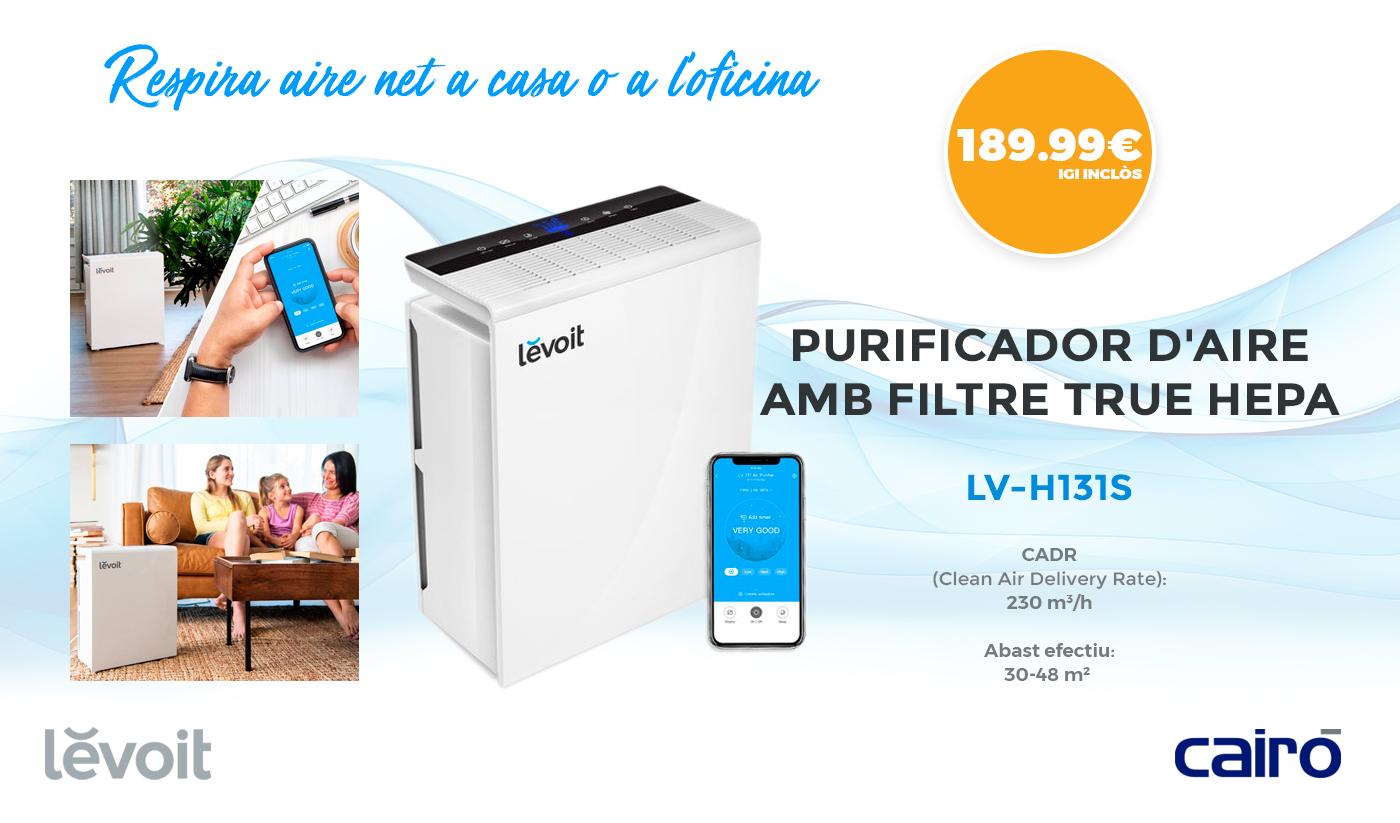 Purificador d'aire Intel·ligent Levoit LV-PUR131S Smart