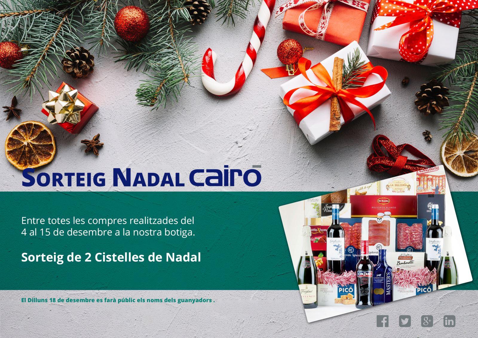 Sorteig cistelles Nadal Cairó
